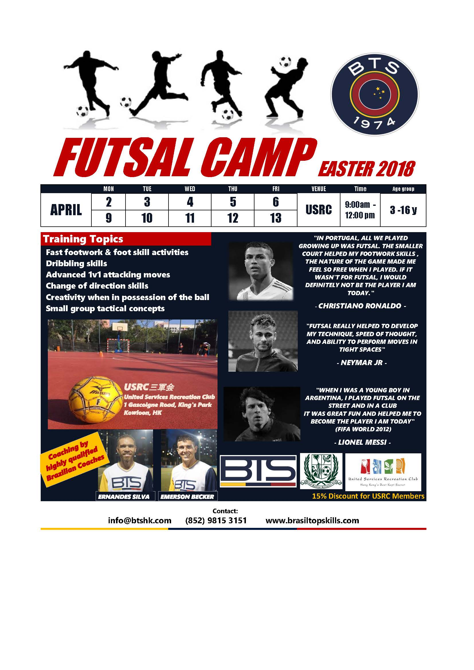 FUTSAL CAMP EASTER 2018@USRC
